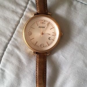 Fossil watch in rose gold!
